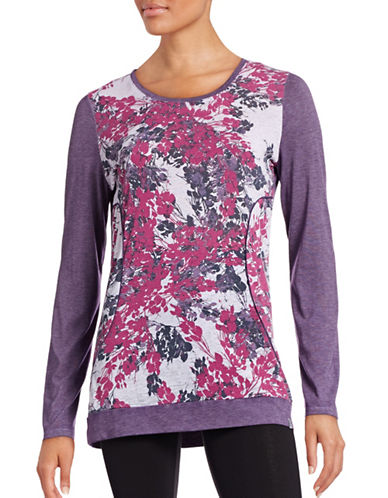 Marc New York Performance Floral-Printed Long-Sleeved Top-PURPLE MULTI-Large 88554161_PURPLE MULTI_Large