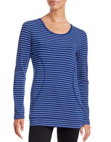 Marc New York Performance Long Sleeve Stripe Top-BLUE-Small 88554149_BLUE_Small