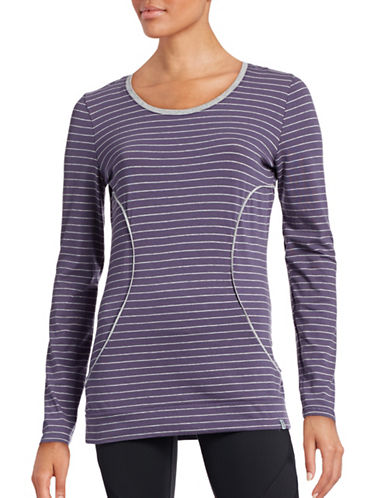 Marc New York Performance Long Sleeve Stripe Top-PURPLE-X-Small 88554153_PURPLE_X-Small