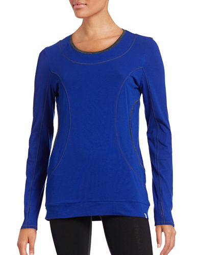 Marc New York Performance Banded Stretch Cotton Top-BLUE-Large 88554186_BLUE_Large