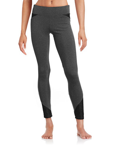 Marc New York Performance Leggings with Lace Panels-GREY-X-Small 88554133_GREY_X-Small