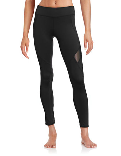 Marc New York Performance Compression Leggings with Mesh Panels-BLACK-Large 88554127_BLACK_Large