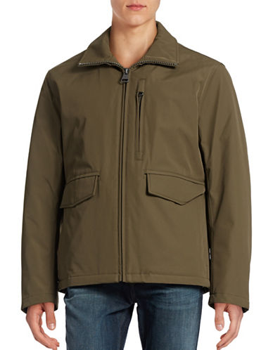 Marc New York Insulated Soft Shell Rain Jacket-GREEN-Medium