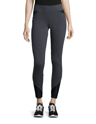 Marc New York Performance Lace Panel Leggings-CHARCOAL HEATHER-Large 88860190_CHARCOAL HEATHER_Large