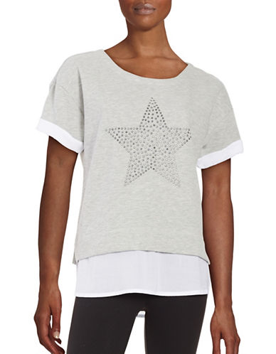 Marc New York Performance Rhinestone Fooler T-Shirt-LIGHT GREY-Medium 88860215_LIGHT GREY_Medium