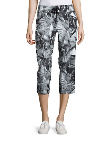 Marc New York Performance Floral Print Performance Pants-BLACK-Medium 88513127_BLACK_Medium