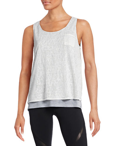 Marc New York Performance Slub Knit Double-Layer Tank-GREY-X-Small 88427496_GREY_X-Small