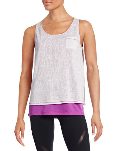 Marc New York Performance Slub Knit Double-Layer Tank-PURPLE-Medium 88427488_PURPLE_Medium