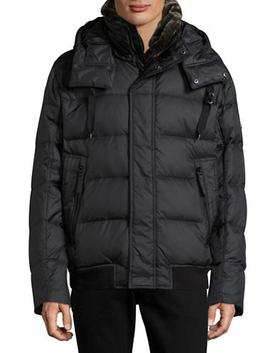 Marc New York Down Bomber Jacket with Faux Fur-BLACK-Large 88618515_BLACK_Large