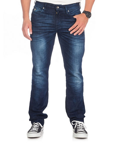 Guess Relaxed Tapered Leg Jeans-BLUE-28X34