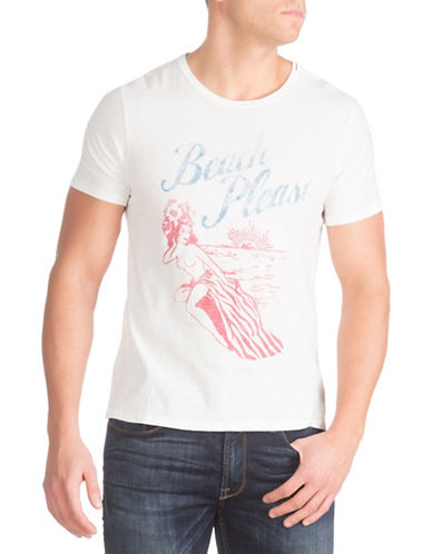Guess Beach Please Crew Neck Tee-WHITE-Small 88326388_WHITE_Small