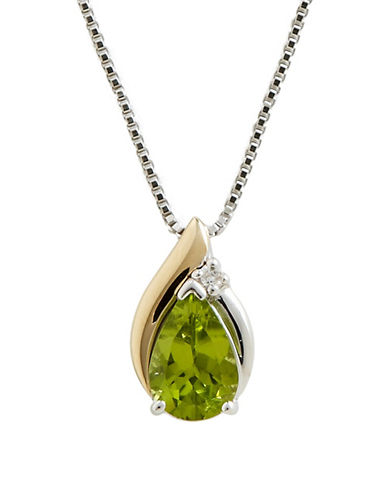 Fine Jewellery Diamond and Peridot Pendant-PERIDOT-One Size
