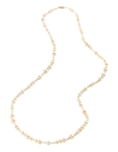 Fine Jewellery 10K Yellow Gold Mixed Pearl Strand Necklace-PEARL-One Size