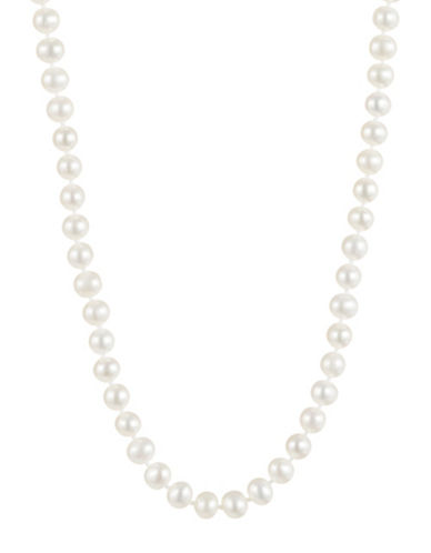 Fine Jewellery 14K Yellow Gold Short Freshwater Pearl Necklace-WHITE-One Size
