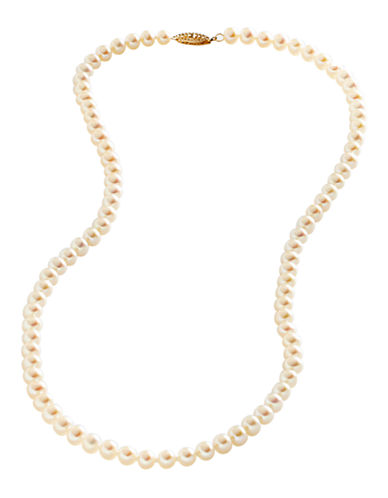 Fine Jewellery 14K Yellow Gold Freshwater Pearl Necklace-PEARL-One Size
