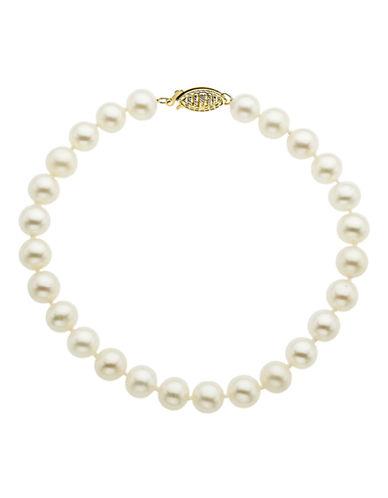 Fine Jewellery 14K Yellow Gold Freshwater Pearl Bracelet-PEARL-One Size