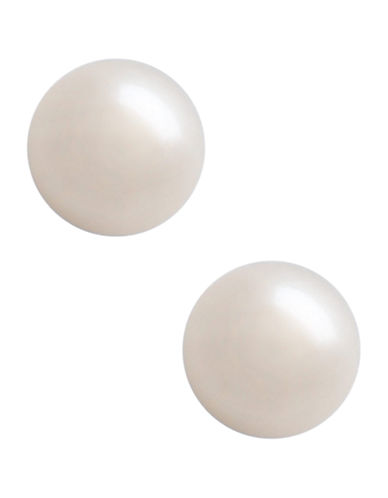 Fine Jewellery 10K Yellow Gold Button 7mm Pearl Stud Earrings-PEARL-One Size