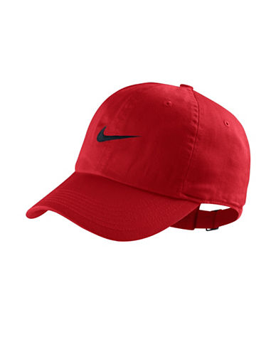 Nike H86 Logo Cotton Baseball Cap-RED-One Size 89847191_RED_One Size