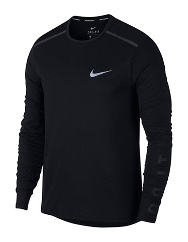 Nike Breathe Rise 365 Running Top-BLACK-Medium