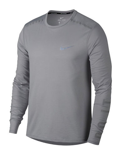 Nike Breathe Rise 365 Running Top-GREY-Small