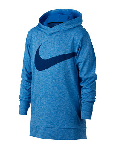 Nike Boys Breathe Training Hoodie-BLUE-14-16