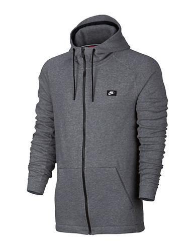 Nike Visor Tip Modern Hoodie-GREY-X-Large
