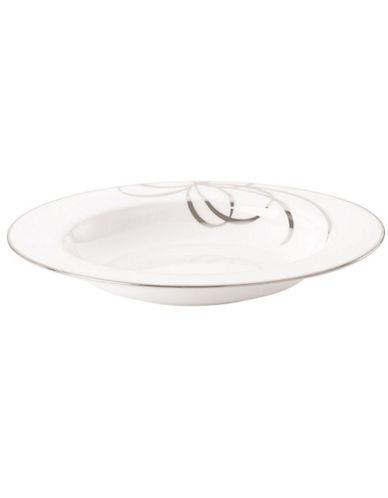 Kate Spade New York B Boulevard Rim Pasta Soup-WHITE-One Size