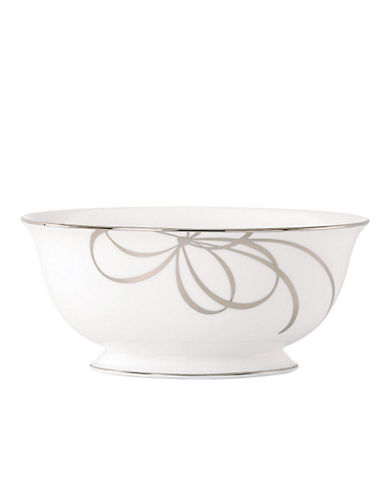 Kate Spade New York B Blvd Large Serving Bowl-WHITE WITH PLATINUM-One Size