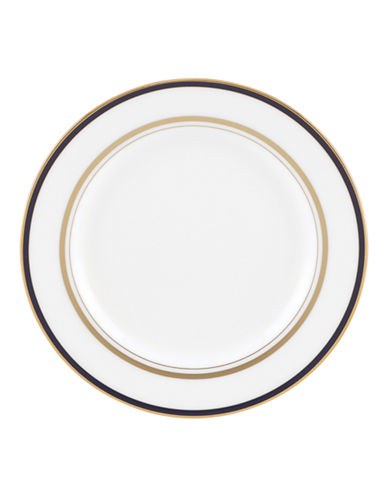 Kate Spade New York Library Lane Navy Salad Plate-WHITE-One Size