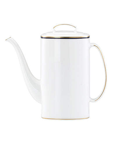 Kate Spade New York Library Lane Navy Coffee Pot-WHITE-One Size