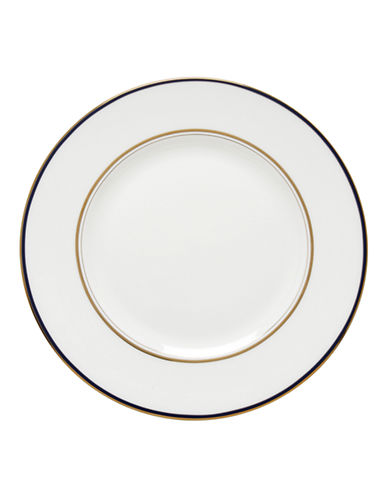 Kate Spade New York Library Lane Navy Dinner Plate-WHITE-One Size