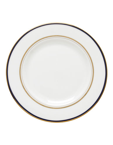 Kate Spade New York Library Lane Navy Accent Plate-WHITE-One Size