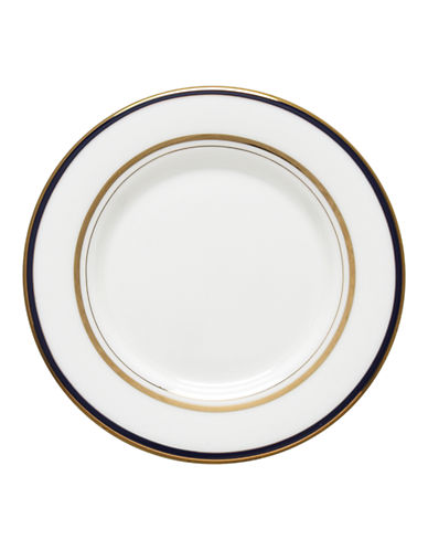 Kate Spade New York Library Lane Navy Saucer-WHITE-One Size