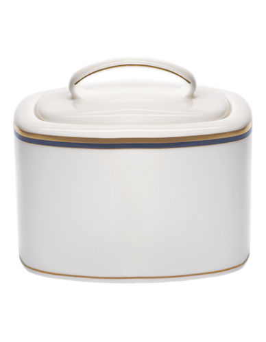 Kate Spade New York Library Lane Navy Sugar Bowl-WHITE-One Size