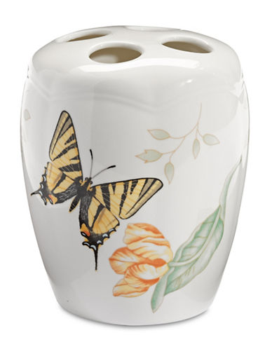 Lenox Butterfly Meadow Toothbrush Holder-WHITE-One Size