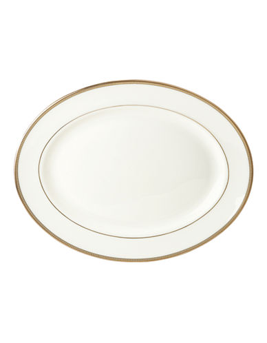 Kate Spade New York Sonora Knot Oval Platter-WHITE-One Size