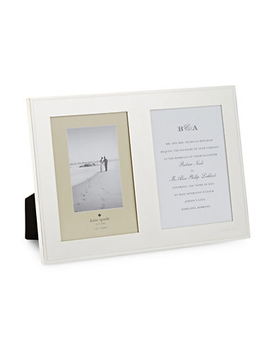Kate Spade New York Darling Point Double Invitation Frame-SILVER-Large