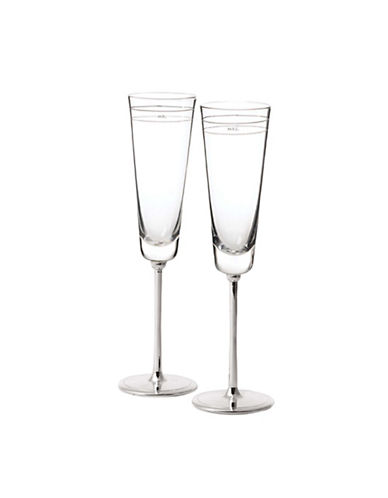 Kate Spade New York Darling Point Toasting Flute Pair-CRYSTAL-One Size