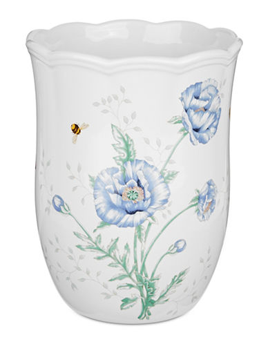 Lenox Butterfly Meadow Waste Basket-WHITE-One Size