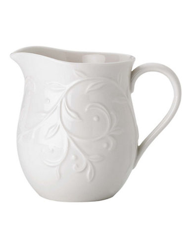 Lenox Opal Innocence Carved Creamer-WHITE-One Size