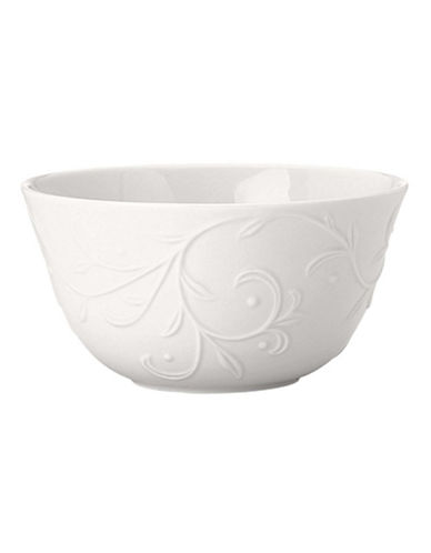 Lenox Opal Innocence Carved Fruit Bowl-WHITE-One Size