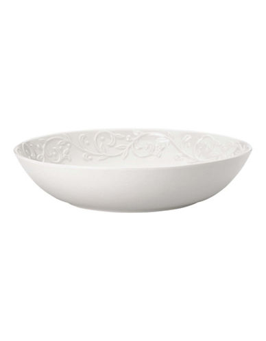 Lenox Opal Innocence Carved Pasta Bowl-WHITE-One Size