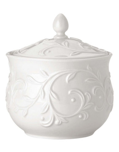 Lenox Opal Innocence Carved Sugar Bowl-WHITE-One Size