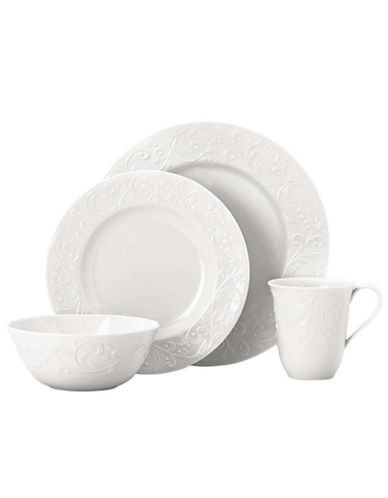 Lenox Opal Innocense Carve 4 Piece Placesetting-WHITE-One Size