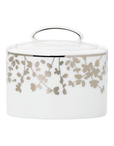 Kate Spade New York Gardner Street Sugar Bowl With Lid-WHITE-One Size