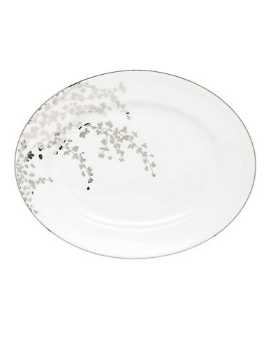 Kate Spade New York Gardner Street Oval Platter-WHITE-One Size