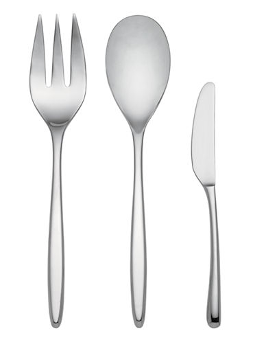 Kate Spade New York Tompkins Three-Piece Serving Set-STAINLESS STEEL-One Size