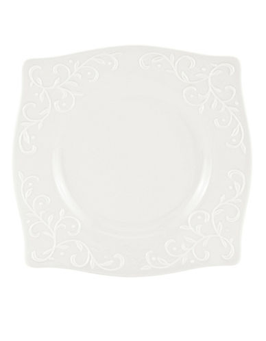 Lenox Opal Innocence Carve Square Accent Plate-WHITE-One Size