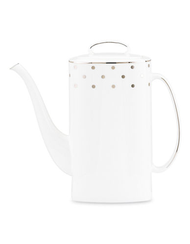 Kate Spade New York Larabee Road Coffee Pot with Lid-WHITE-One Size