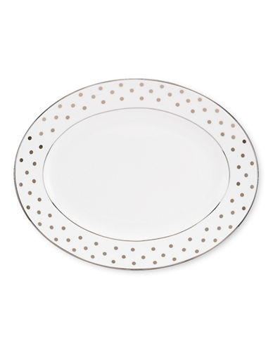 Kate Spade New York Larabee Road Oval Platter-WHITE-One Size